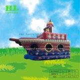El Parque de Diversiones de color marrón oscuro Barco Pirata inflable castillo inflable