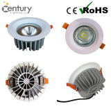 Ce RoHS approuvé Down Light CREE COB Plafond 30W LED Downlight Aluminium