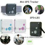PAS knöpfen Mini-GPS-persönlichen Verfolger mit bidirektionaler Kommunikation V16