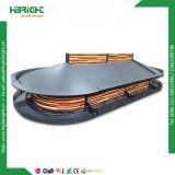 2 camadas de metal suporte da tela de frutas e produtos hortícolas
