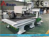 1530 Dos jefes Wood Router CNC Máquina de grabado con el eje de rotación 1500x3000mm