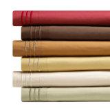 Insieme di lusso del lenzuolo di Microfiber del ricamo di colore solido di disegno
