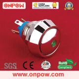 Onpow 12mm Interruptor Pulsador de metal (GQ12 Series, CE, RoHS)