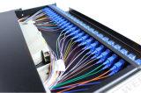 24 quadri d'interconnessione di fibra scorrevoli monomodali duplex Port dello Sc