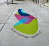 Vinile grafico della pellicola del pavimento autoadesivo decorativo del PVC per stampa
