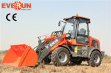 Everun CER Approved 1.5ton Mini Vorderseite Loader mit New Wooden Forks