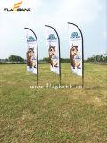 bandierine della piuma di mostra di 2.8m/bandierina di spiaggia personalizzate alluminio