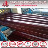 Hoja acanalada galvanizada color de la alta calidad para el azulejo de material para techos