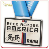 Personagem personalizado América Corrida de bicicleta Competição Esporte Medalhão de troféu de metal