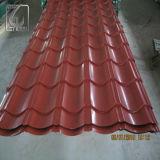 Rote Farbe vorgestrichenes Galvanzied gewölbtes Stahlblech für Afrika-Markt