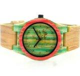 최신 형식 색깔 대나무 시계 결박 시계 나무로 되는 테이블에 있는 OEM