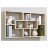Wall Wood Case Storage Unit CD DVD Home Office Book Shelf Display