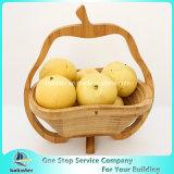 Bambu Todo-Natural que dobra a cesta de fruta dobrável