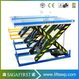 table élévatrice statique de palette de cargaison des ciseaux 2ton