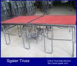 Bewegliche zusammenklappbare Stufe-faltende Stufe-Feuerfestigkeit-Piazza-Stufe