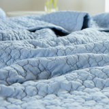 Algodão reversível Wahsed Twin Quee Colcha Quilted Coverlet Completo