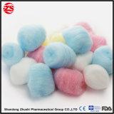 Bola médica estéril y no estéril de la algodón del absorbente el 100%