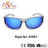 Crystal Brown Tortoise Polarized Fashion Sports Lunettes de soleil pour femmes (91001)