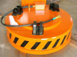 Tipo de alta temperatura aprovado ímã de levantamento elétrico do ISO do Sucata-Transporte para a indústria da planta de aço/materiais de construção
