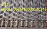 ステンレス鋼の鎖によって運転されるコンベヤーベルトの網