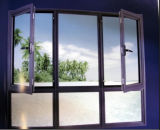 Aluminio Venta caliente Casement Ventana de cristal para la casa residencial (ACW-008)