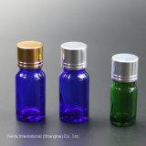 Bouteille d'huile de verre avec couvercle en aluminium électrifiée, flacon compte-gouttes (NBG26B)
