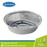 Лотки упаковки еды круглые алюминиевые устранимые