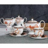 Insieme di caffè di ceramica nero dello zucchero del tè di Cina di osso