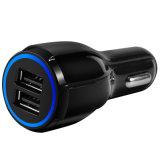 Cargador dual de carga rápido adaptante del coche del USB del teléfono móvil QC2.0