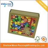 Personalizado Caja de papel impreso colorido del regalo de la Navidad (QYZ030)