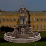 De openlucht Grote Gesneden Fontein van het Water van het Beeldhouwwerk van het Standbeeld van de Leeuw van de Steen Marmeren