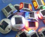 Lumières solaires en plastique d'horizontal de goujon de route