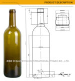 Top quality 750ml Bordeaux Wine Bottles in stick (1140)