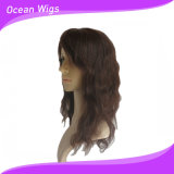 美しく、Hot Sale Human Medium Length 100%インドのVirgin Hair Wig (hw-055)