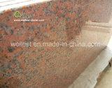 石切り場のOwer M562のかえでのカウンタートップの台所上作業上のための赤い花こう岩の平板