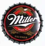 زخرفيّة إشارات لوح معدنيّ قصدير إشارة [بوتّل كب] مع [ميلّر] علامة تجاريّة