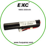 Batterie rechargeable de batterie d'ion de lithium Wholesale18650 2000 3.7V