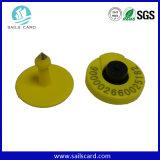 고품질 TPU 125kHz RFID 노란 동물성 귀 ID 꼬리표