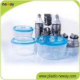 Recipiente de plástico redondo de plástico personalizado e barato