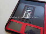 Simple Design PU Leather Pad Folio avec calculatrice