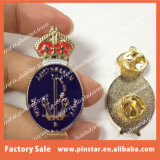 Fabricante China Australia Marina Rey corona metal personalizado Insignia Insignia de solapa
