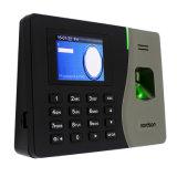 Gravação de tempo biométrico com sensor biométrico com registrador de autoatendimento e software de atendimento gratuito de fácil utilização