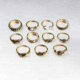 ringen van de Vinger van 11PCS Boho de Uitstekende Punk Antieke Bloem Gesneden MIDI