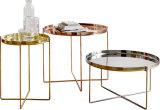 Tavolino da salotto del telaio base degli ss con la scheda di legno della Tabella di figura rotonda