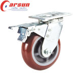 Hochleistungspolyurethan-Rad-Fußrolle des schwenker-4inches mit Metallgesamtbremse