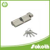 高い安全性の固体倍はすべての真鍮のヨーロッパのプロフィールシリンダーロックを開く