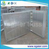 Алюминиевые барьеры управлением толпы, прямые барьеры толпы случая