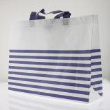 Настраиваемые горизонтальные полосы белого Non-Woven магазинов сумки