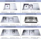 Нержавеющая сталь Kitchen Sink (законченная поверхность сатинировки шара двойника HD42)