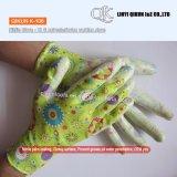 Безопасности нитрила хлопка полиэфира датчиков K-104 13 перчатки Nylon Coated работая